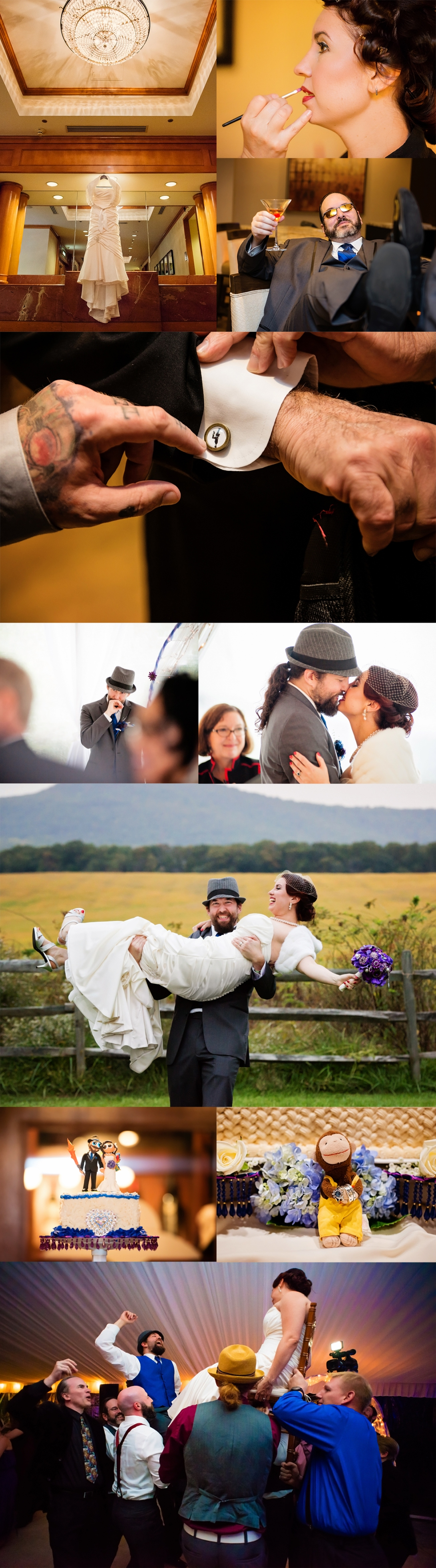 sneek peek blog jessica ben comus inn wedding