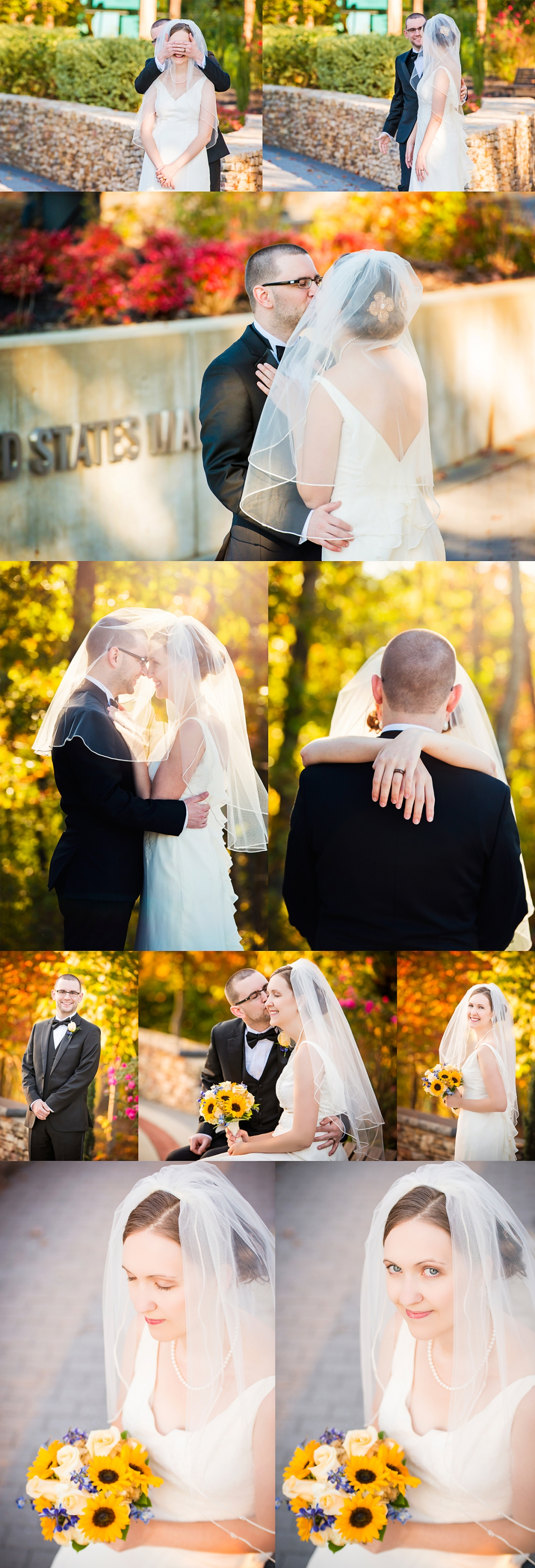 Catherine and Josh Marine Corps Museum Wedding